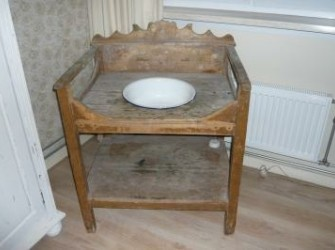 Antieke wasmeubel/tafel