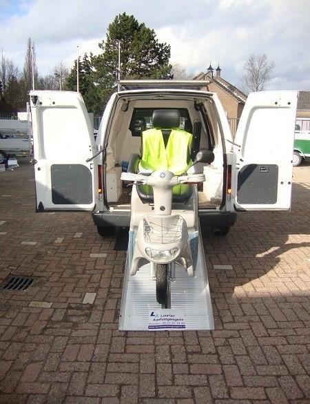 Aluminium oprijplaten voor scootmobiel/rolstoel