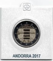 Andorra 2 Euro 2017 100 Jaar Volkslied in Munthouder