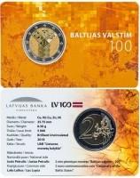 Letland 2 Euro 2018 Coincard Baltische Onafhankelijkheid
