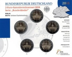 Duitsland 2 Euro 2018 Coincard Charlottenburg BU