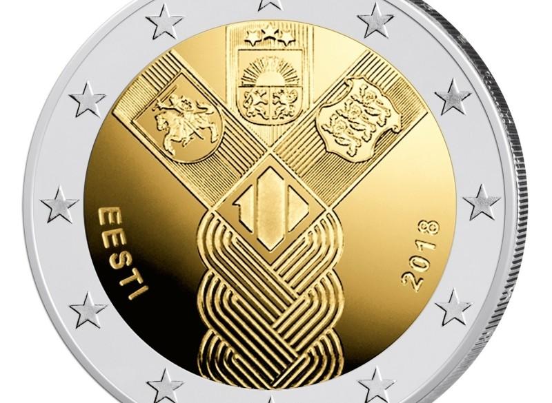Estland 2 Euro 2018 Baltische Onafhankelijkheid