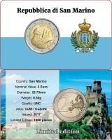 San Marino 2 Euro 2017 Coincard