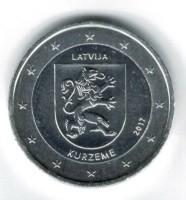 Letland 2 Euro 2017 Kurzeme Verzilverd