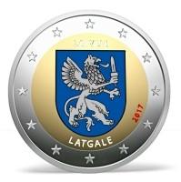 Letland 2 Euro 2017 Letgallen Gekleurd