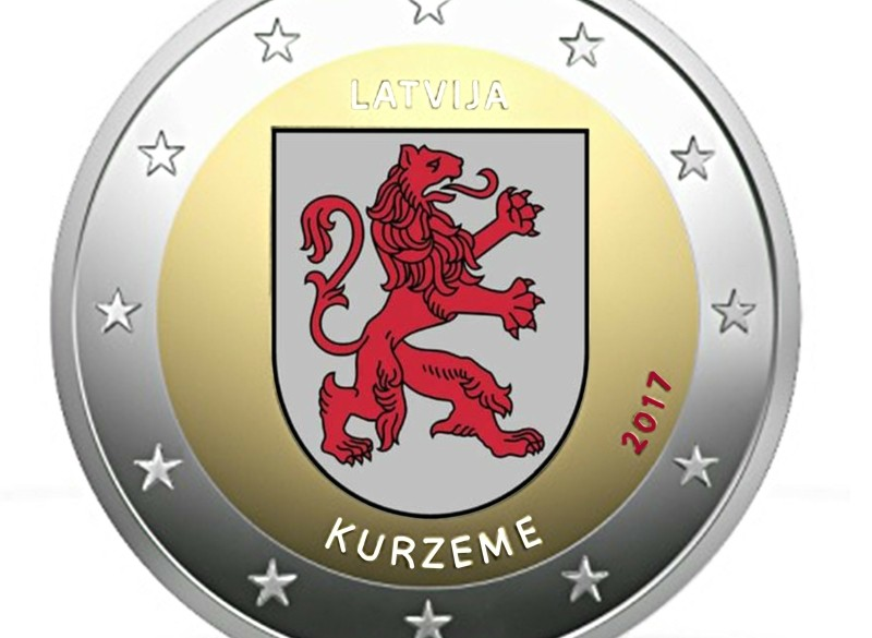 Letland 2 Euro 2017 Kurzeme Gekleurd