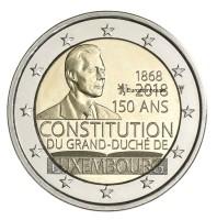 Luxemburg 2 Euro 2018 150 Jaar Grondwet