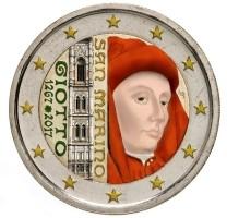 San Marino 2 Euro 2017 Giotto Gekleurd