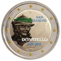 San Marino 2 Euro 2016 Donatelo Gekleurd