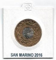San Marino 5 Euro 2016 Barmhartigheid in Munthouder