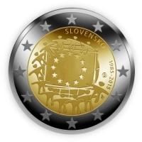 Slowakije 2 Euro 2015 30 Jr. EU Vlag