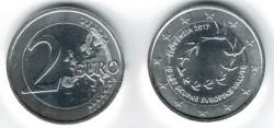 Slovenie 2 Euro 2017 10 Jaar Euro in Slovenie Verzilverd