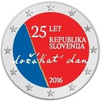 Slovenie 2 Euro 2016 25 Jaar Onafhankelijkheid Gekleurd