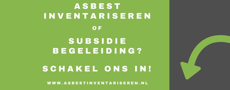 Subsidie voor asbest verwijdering