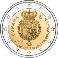 Spanje 2 euro 2018 Felipe 50 Jaar