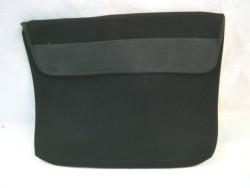 Laptophoes NIEUW,softshell, gevoerd,zwart, 35 x 28 cm,zwart