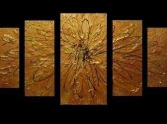 """""""Olympia"""" Nieuw Abstract Olieverfschilderij Groot"""