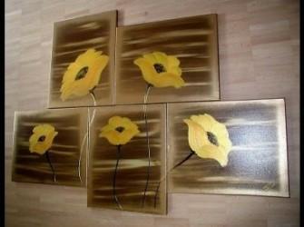 """Bloemen """"Sungold"""" Prachtig Oliverschilderij"""