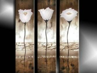 """Witte Bloemen """"Anne"""" Sfeervol Exclusief Schilderij"""