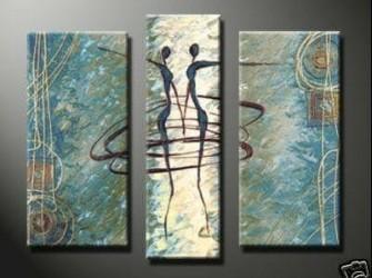 """Nieuw Origineel Schilderij Op Canvas """"Samenspel"""""""