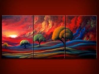 Prachtig Landschap Olieverfschilderij Op Canvas