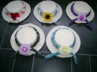 grote hoed van badhanddoek/theedoek