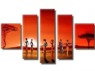 """Origineel Schilderij Op Canvas """"Avond In Afrika"""""""
