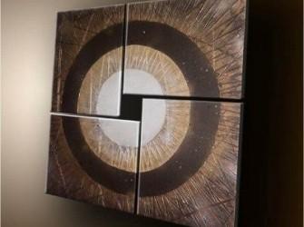"""""""Middelpunt"""" Prachtig Abstract Olieverfschilderij"""