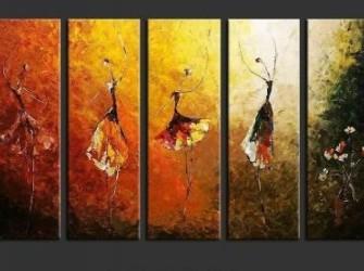 Ballet Symfonie Nieuw Origineel Olieverfschilderij