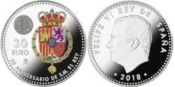 Spanje 30 Euro 2018 Felipe 50 Jaar