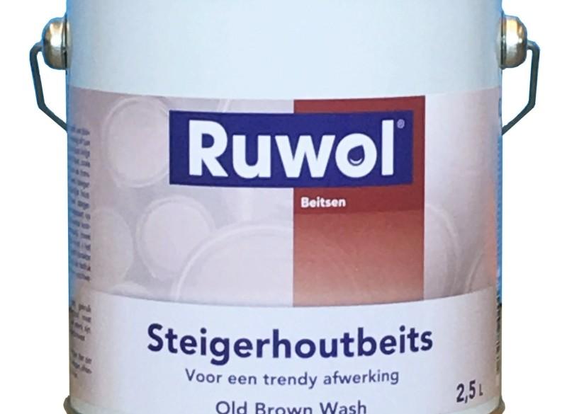 Ruwol Steigerhoutbeits Old Brown Wash 2,5 ltr