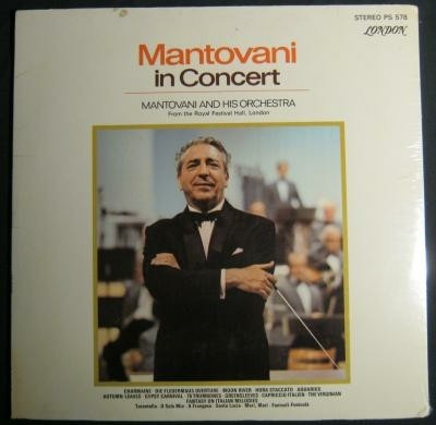 LP Mantovani in concert ,1970,USA pers,London PS578,NIEUW