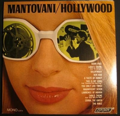 LP Mantovani,1967,Hollywood,USA pers,London LL 3516, nst