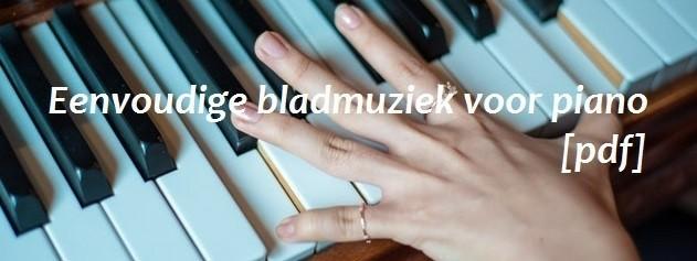 Eenvoudige bladmuziek voor piano [PDF]