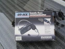 Maxon intercom en 5 kanaals FM radio