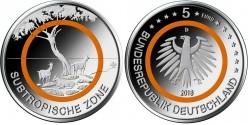 Duitsland 5 Euro 2018 Subtropische Zone