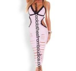 Jumpsuit catsuit roze lak latex look jurkjes leggi