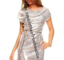 jurk zilver pailletten cocktailjurk kerst