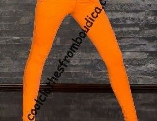 Legging skinny pants jegging cotton oranje festiva
