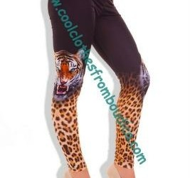 Legging tattoo style rhinestones bling leo lion he