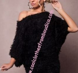Fluffy batwing trui jumper pullover Angel