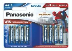 8x Panasonic Evolta alkaline AA