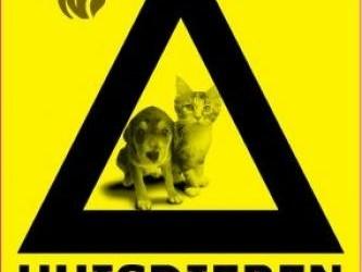 Huisdieren Aanwezig raamsticker