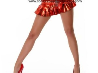 Gogo rok metallic rood strass club wear salsa