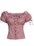 Teachten blouse maat 36 & 38 blauw of rood NIEUW