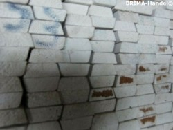 Hout aftimmerhout latten 1,3x3,3x480cm wit gegrond
