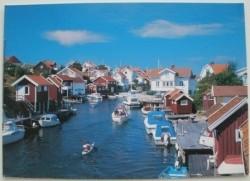 Ansichtkaart - Zweedse woningen aan het water