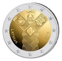 Letland 2 Euro 2018 Baltische Onafhankelijkheid