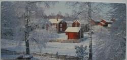 Ansichtkaart - winters Zweden - langwerpig