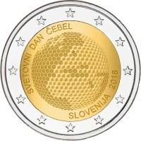 Slovenië 2 Euro 2018 Wereldbijendag